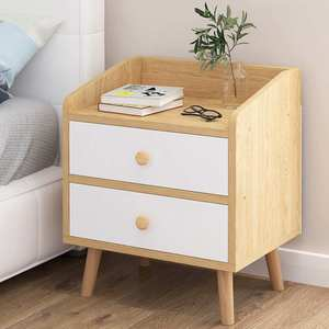 2 Style Bedside Table Storage Nordic Simple Cabinet Home Modern Solid Wood Bedside Small Cabinet Shelf Bedroom Nightstands