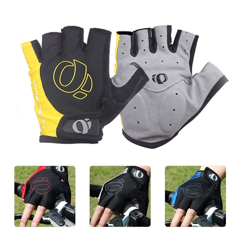 1Pair Cycling Gloves Anti-slip Anti-sweat Men Women Half Finger Gloves Breathable Anti-shock Sports Gloves Bicycle Riding Gloves safety inxs ridding gloves mac836 high quality riding half finger gloves solid anti slip breathable comfort safety gloves
