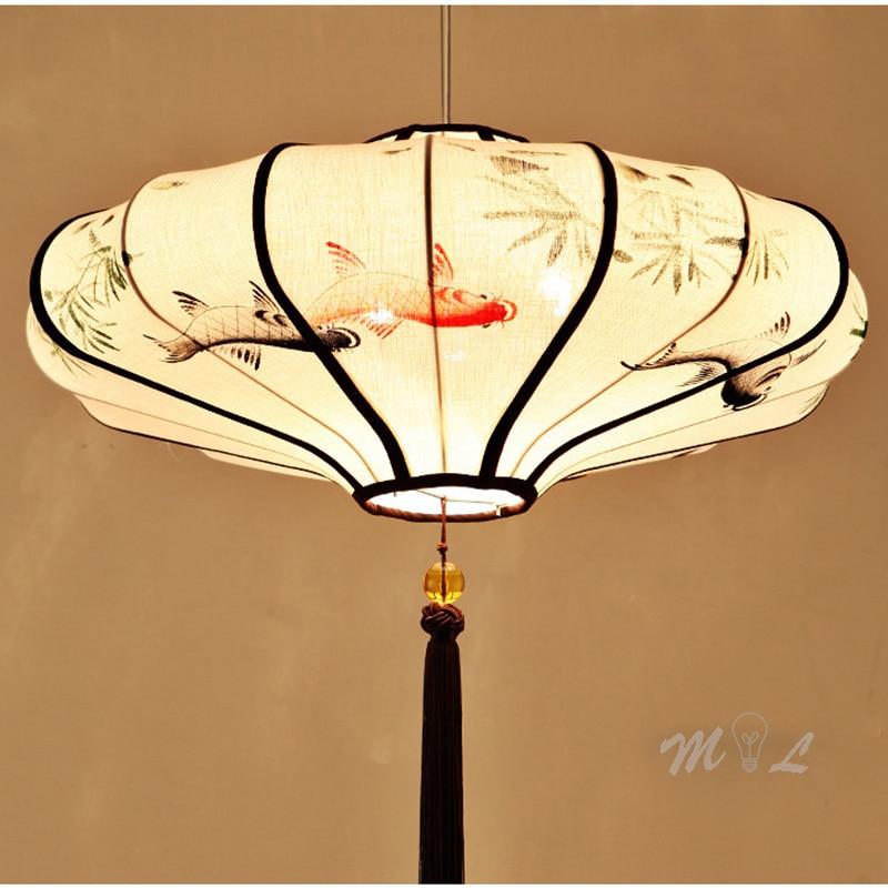مصباح معلق على الطراز الصيني على شكل زهرة ، تصميم يدوي ، إضاءة زخرفية داخلية ، مثالي للمطبخ أو غرفة النوم.