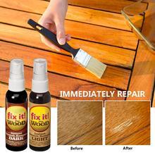 Réparation de plancher de meubles peinture à la cire stylo Agent de réparation des rayures épilation dissolvant peinture de réparation pour plancher de lit de Table en bois 2 pièces