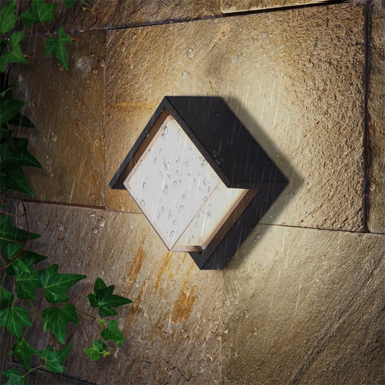 WPD Outdoor Wall Lamps Fixture LED Sconce Lights Waterproof Contemporary Creative Decorative For Foyer Balcony Courtyard enlarge