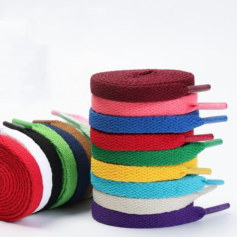 1pair Flat Shoelaces Classic Shoe Laces Fit Fashion Solid Sports Shoelace Casual Unisex Shoe Strings