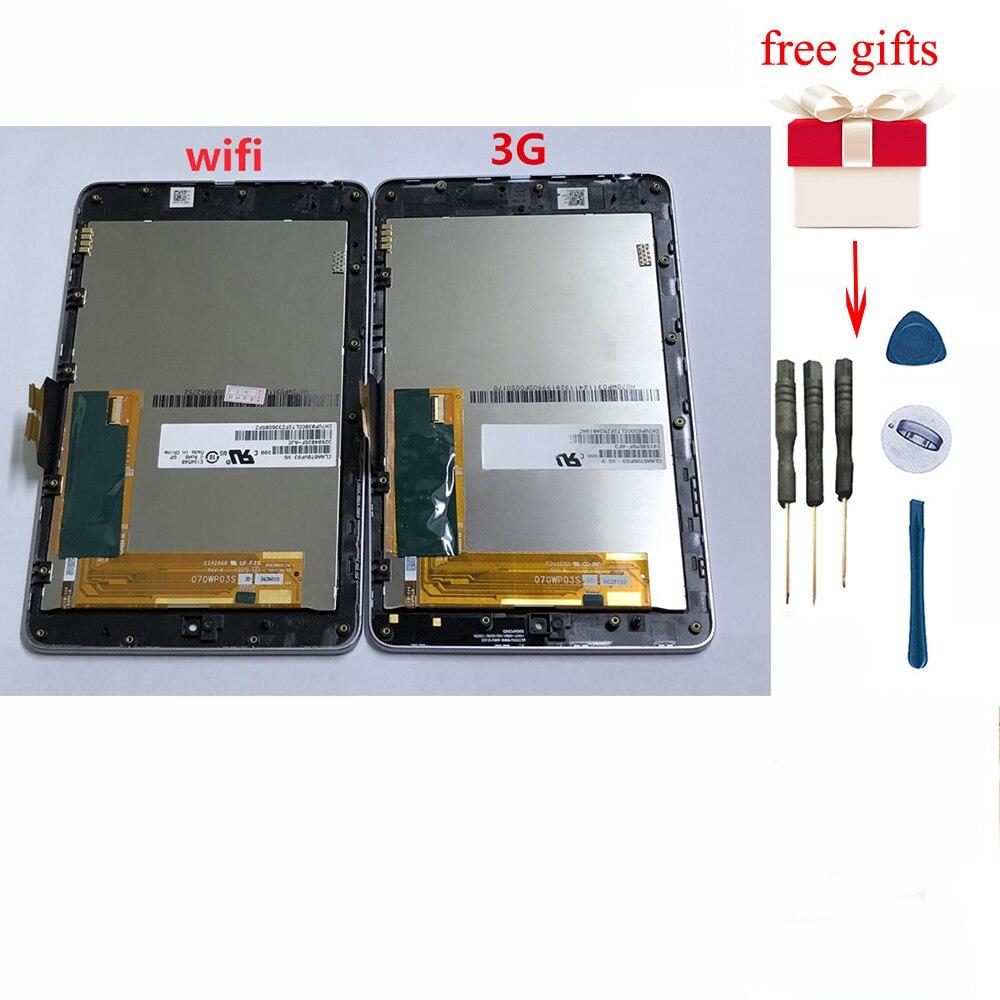 Para ASUS Nexus 7 2012 pantalla LCD MONTAJE DE digitalizador con pantalla táctil con marco para Google Nexus 7 1st Gen ME370T ME370 ME370TG