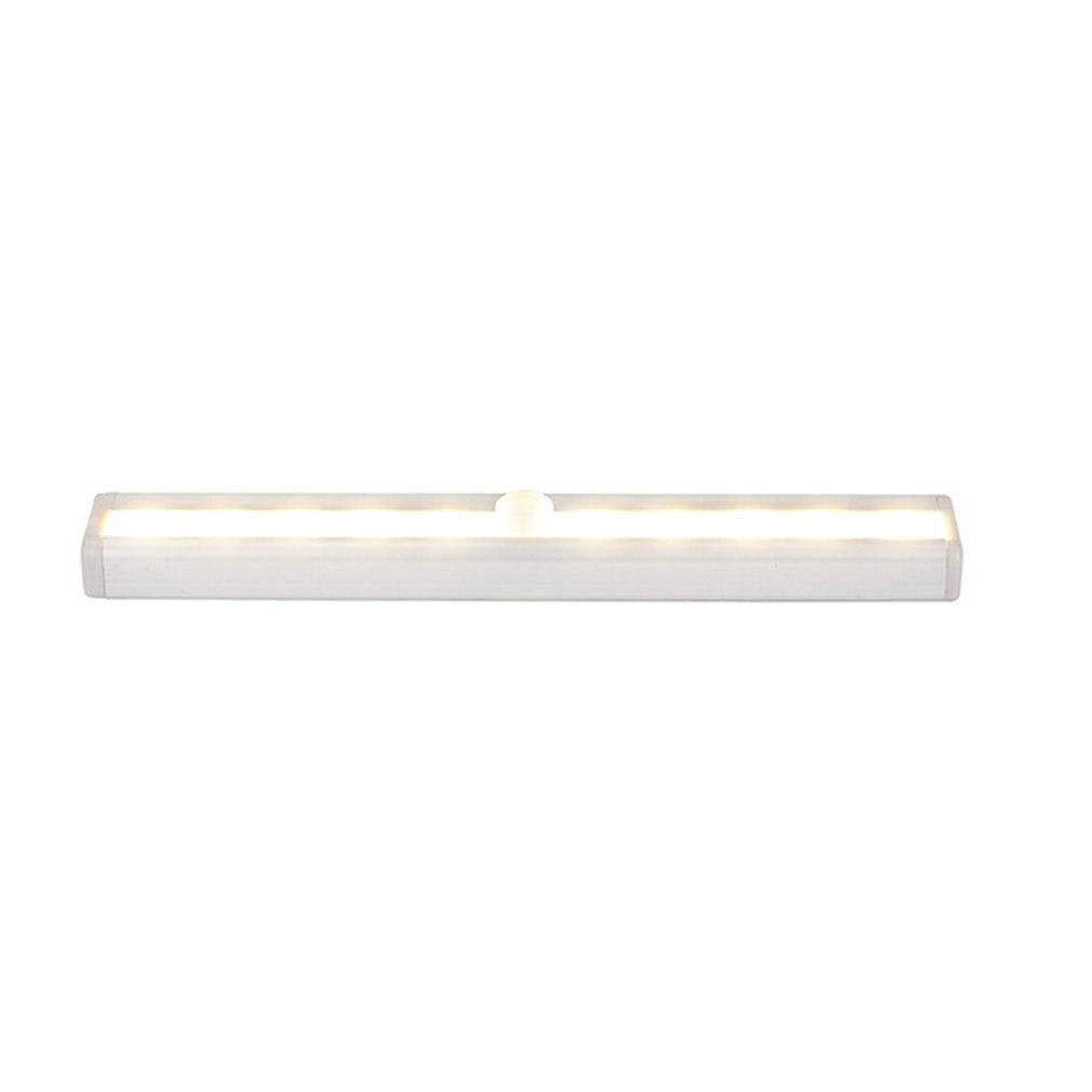 Smart Led Night Light Human infrared Induction Sensor Light Battery Recharging Lamp 10 LED Wardrobe Cabinet Lights