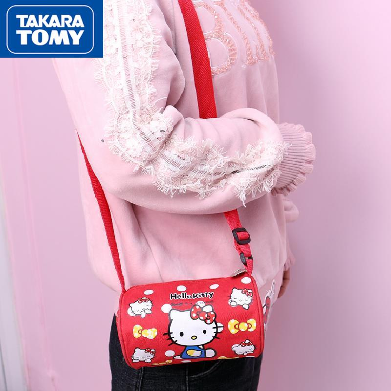 printio сумка hello kitty TAKARA TOMY Милая мультяшная Hello Kitty Сумка-цилиндр простая портативная косметичка для хранения Детская сумка-мессенджер