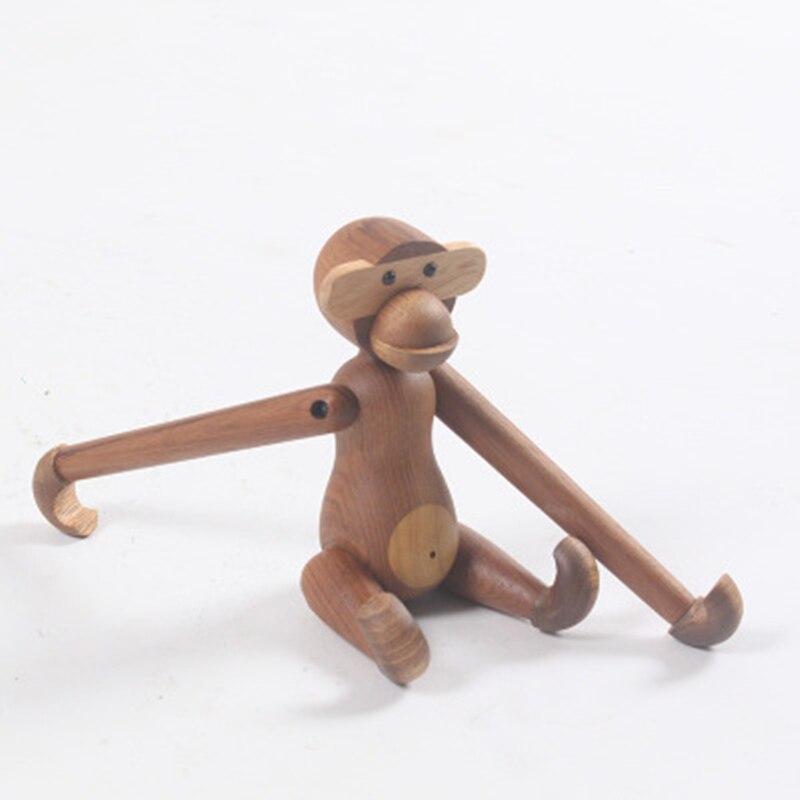 Genji-mono danés de madera maciza, decoraciones de estilo nórdico, animales, conejo, oso, SquirrelCoffee shop, decoración de Bar y oficina, 1 Uds.