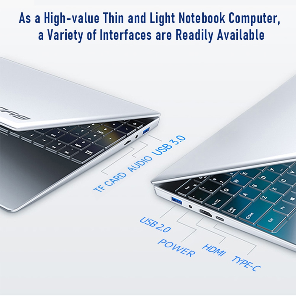BYONE 15.6 Inch Laptop Intel Celeron J3455,1920*1080 IPS , 8GB RAM 512G SSD  Portable Laptop HD Learning Computer Laptop