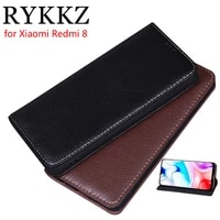rykkz luxury leather flip cover for xiaomi redmi 8 6 22 mobile stand case for redmi 8a pro leather phone case cover