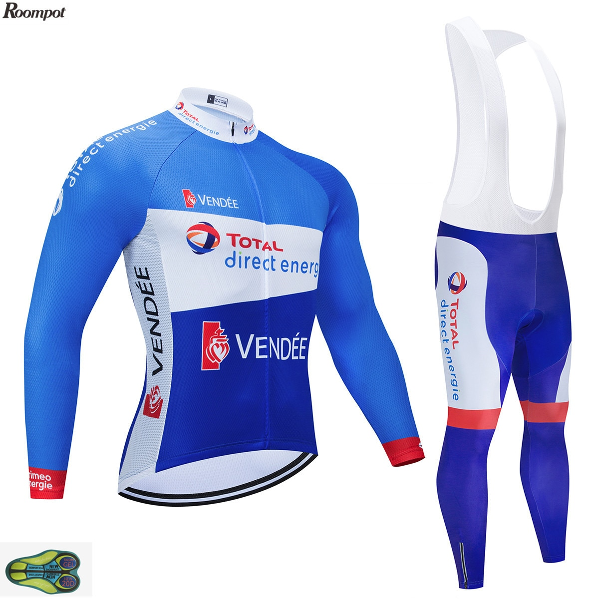 2020 Conjunto de Jersey de Ciclismo de manga larga, conjunto de Ciclismo, Ropa de Ciclismo profesional bicicleta Invierno 20D