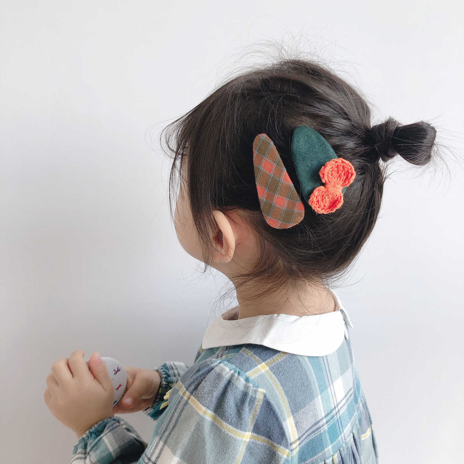 4Pcs/lot Fashion Water Droplet HairClips Cute Yarn Bow Children Girly Set BB Baby Girls Hair Clip Hair Accessories Headdress