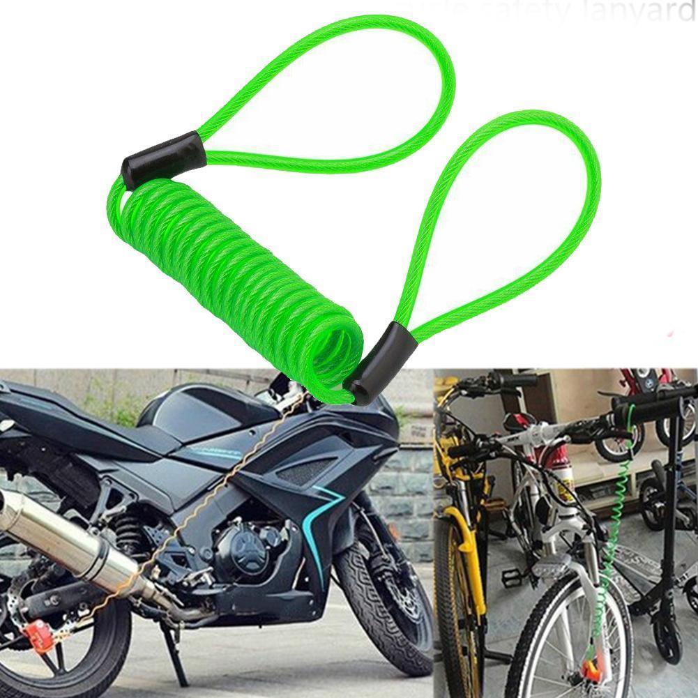 120cm motocicleta bicicleta alarme lembrete de bloqueio a disco anti-roubo moto cabo cabo de segurança disco bloqueio primavera spr m9a0
