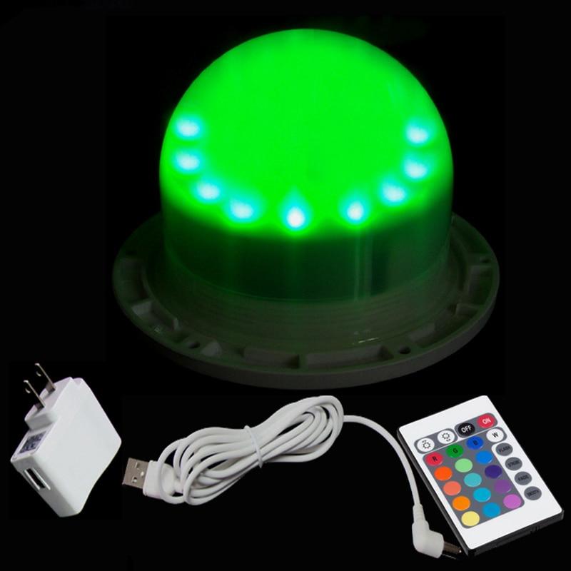 D12cm 12RGB + 12 الأبيض 5V 1A LED ضوء مصدر IP65 16 لون بقعة أضواء التحكم عن بعد RGBW ل الكرة مكعب الغراس 10 قطعة/الوحدة