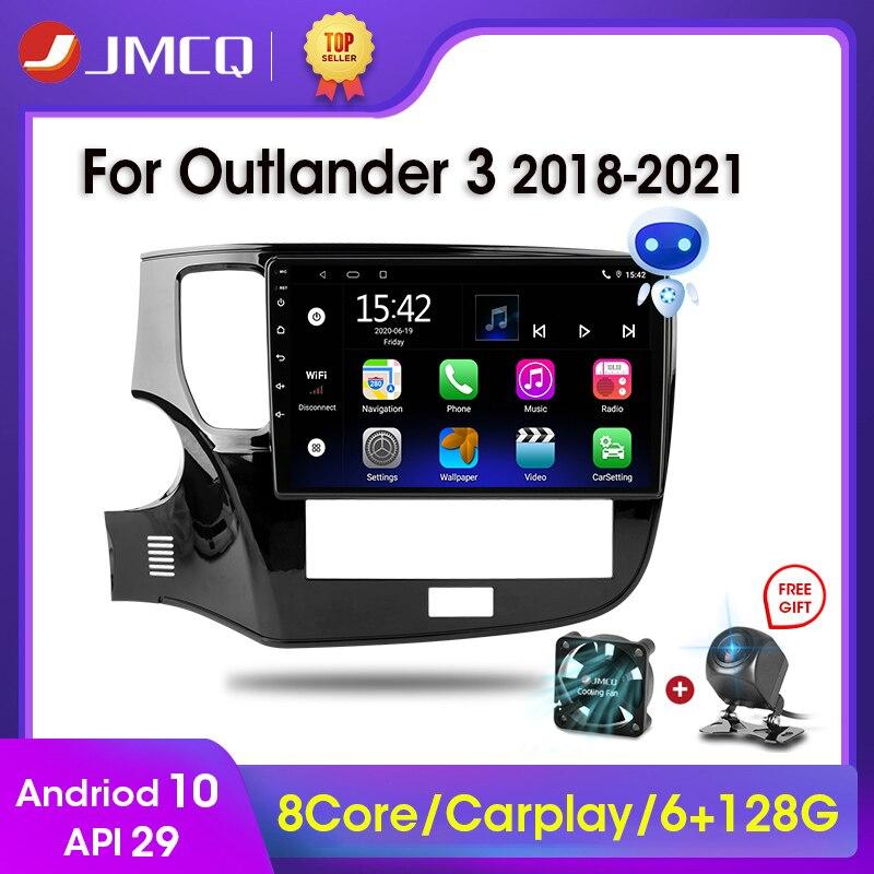 Фото - Автомагнитола JMCQ, 2 Din, Android 10, мультимедийный видеоплеер для Mitsubishi Outlander 3 III GF0W GG0W 2018 - 2021 CarPlay автомагнитола jmcq 2 din android 10 для renault megane 2 2002 2009 мультимедийный видеопроигрыватель с сенсорным экраном gps rds dvd