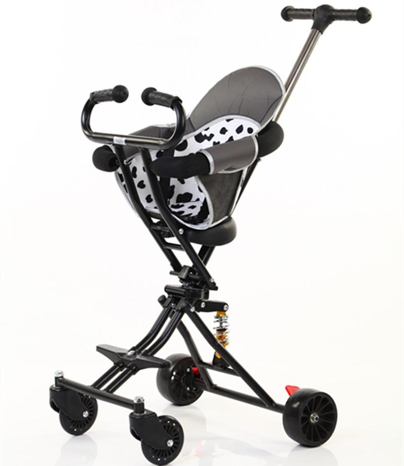 عربة أطفال بأربع عجلات بسيطة جديدة لعام 2020 قابلة للطي عربة أطفال بمناظر طبيعية عالية
