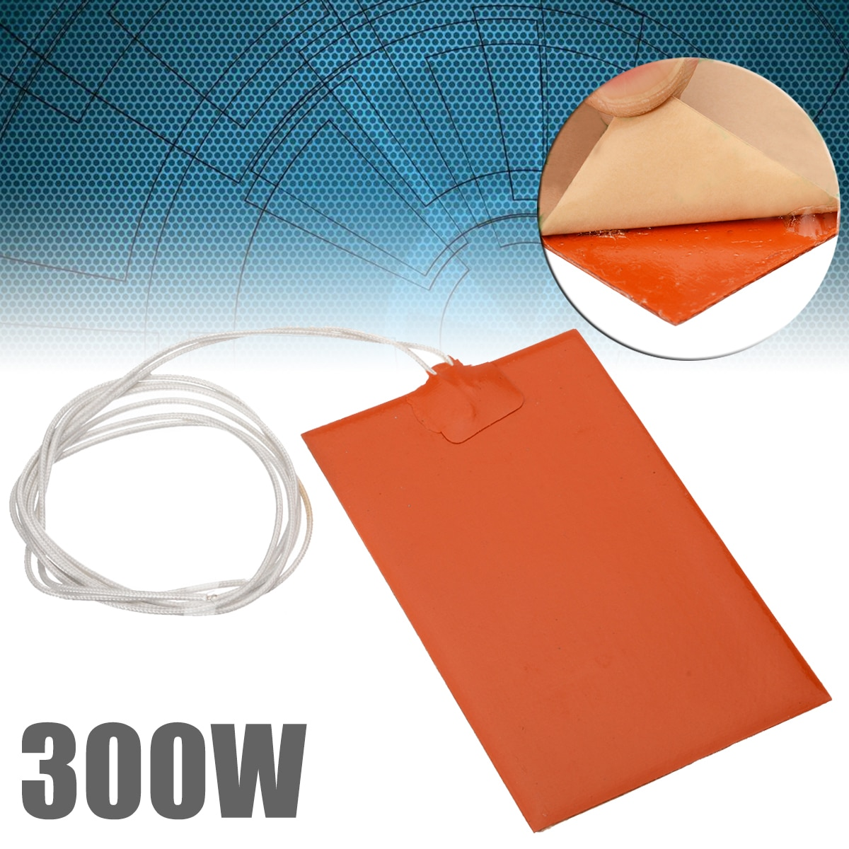 300W 220V Engine Oil Tank Silicone Heater Pad Universal Fuel Tank Water Tank Rubber Heating Mat Warm