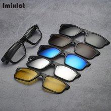 5 Lenes Magnet Sunglasses Clip Magnetic Clip on Sunglasses Clip on Glasses Men Polarized Clip Custom Prescription Eyewear Frame