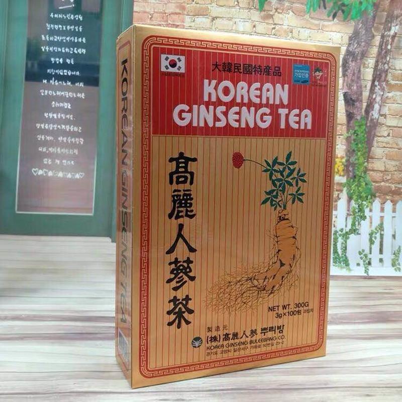 شاي عشبة جينسنج كوري ، 1 صندوق = 300g {3g x 100 pack}
