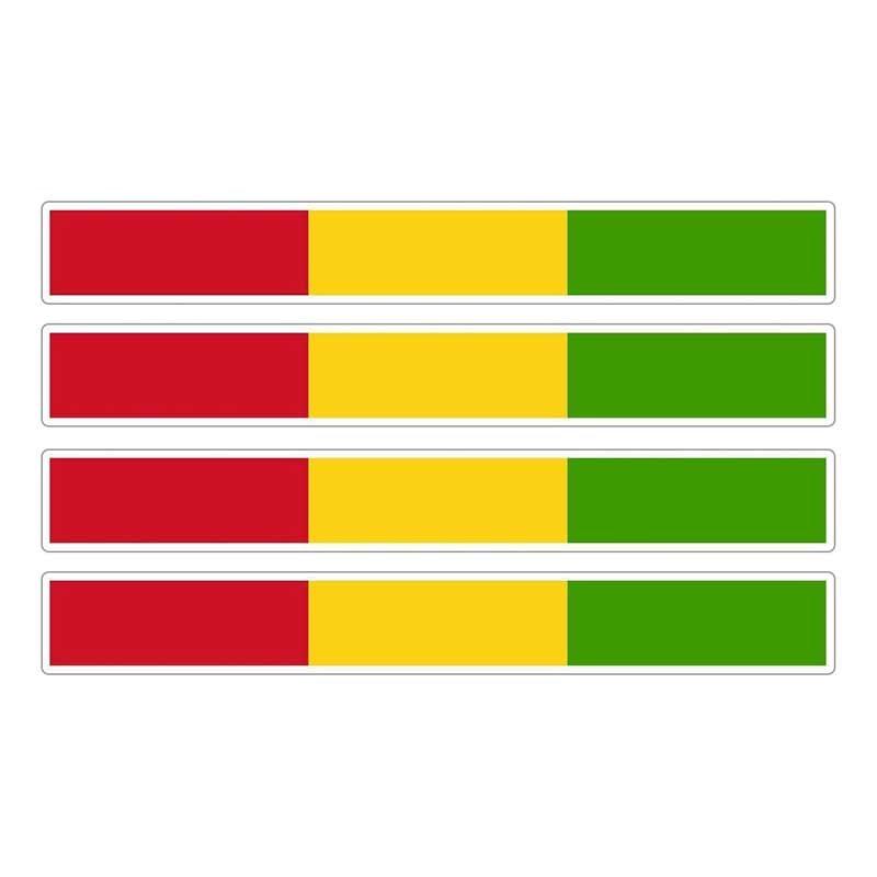 4pcs Patriotic Stickers Flag Stripes Vinyl KK PVC 13cm X 1.7cm Car Window Motorcycle Decoration Tuning Guinea