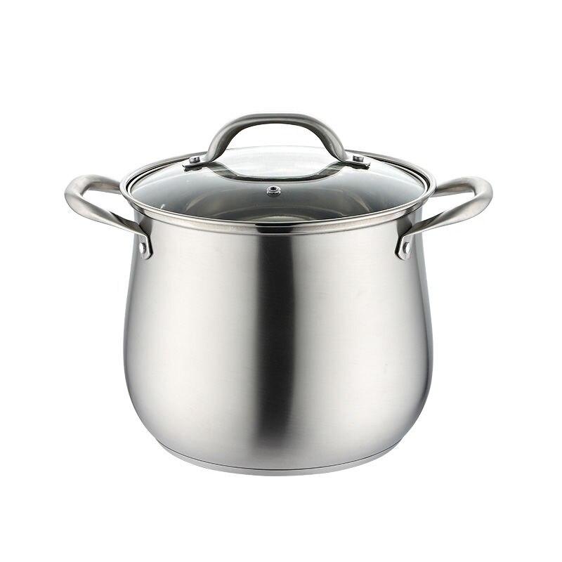 Olla de acero inoxidable para sopa, olla para gachas, Cocina de Inducción, olla Universal de Gas, olla para sopa, ollas de cocina, ollas y sartenes de cerámica