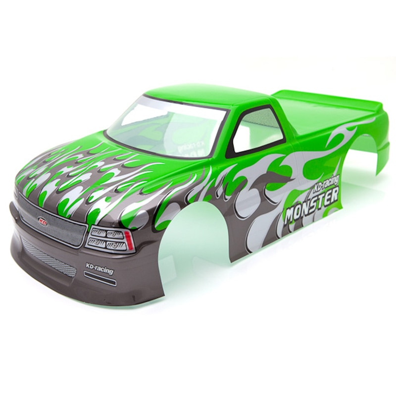 Para 1/10 coche RC veneno T-10 PVC pintado Shell cuerpo 1/10 RC coche camioneta ancho 205Mm de distancia entre ejes 255Mm verde