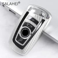tpu carbon fiber car key case for bmw f30 f20 f10 f18 f22 f01 x3 x4 f06 f02 m3 m5 smart full cover accessories