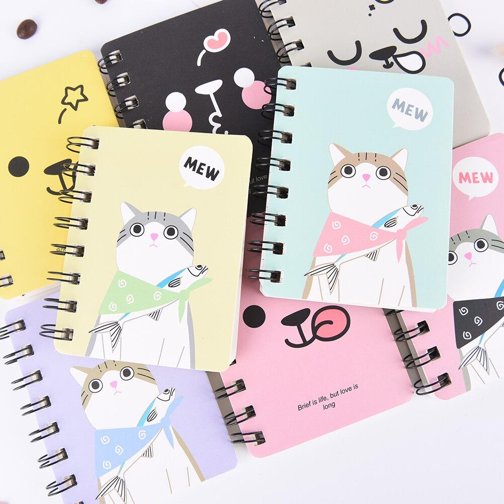 Kawaii Кот кролик тетрадь мультфильм панда Медведь спираль журнал дневник Корейская Милая Канцелярия
