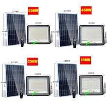 Motion Sensor led light 150/250/450/550W Solar Flood Lights Outdoor floodlight Waterproof Wall Lamp solar lamp Garden Lighting