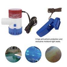 12V 1100GPH Fully Noiseless Submersible Boat Bilge Rule Water Pump Vacuum Water Pump With Bilge Float Switch 2.5 Amp
