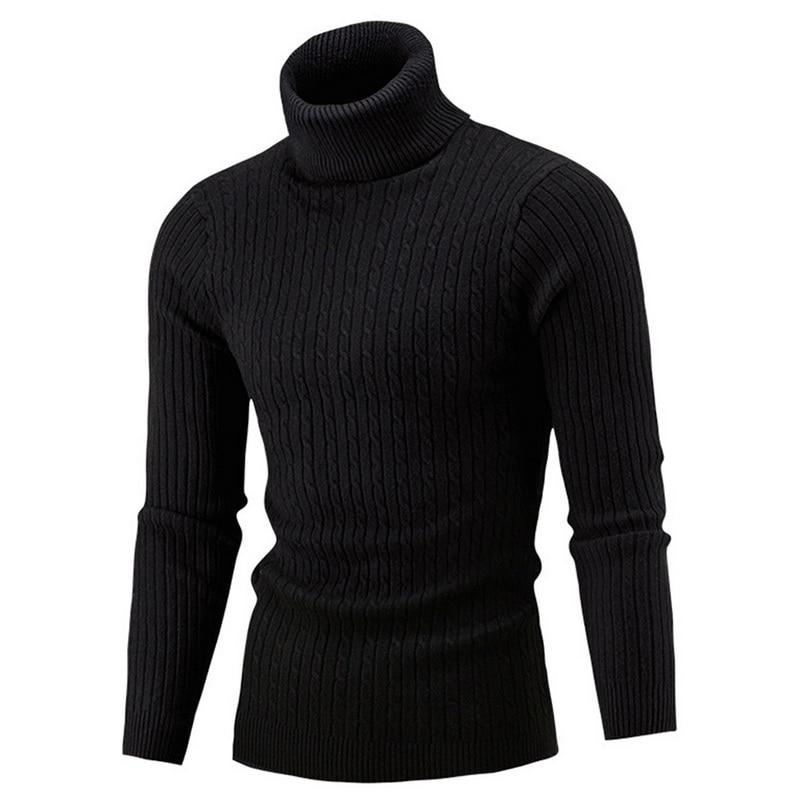 Мужская Водолазка Осень/Зима 2021, Мужская водолазка, теплый вязаный свитер, теплый мужской свитер, мужская одежда