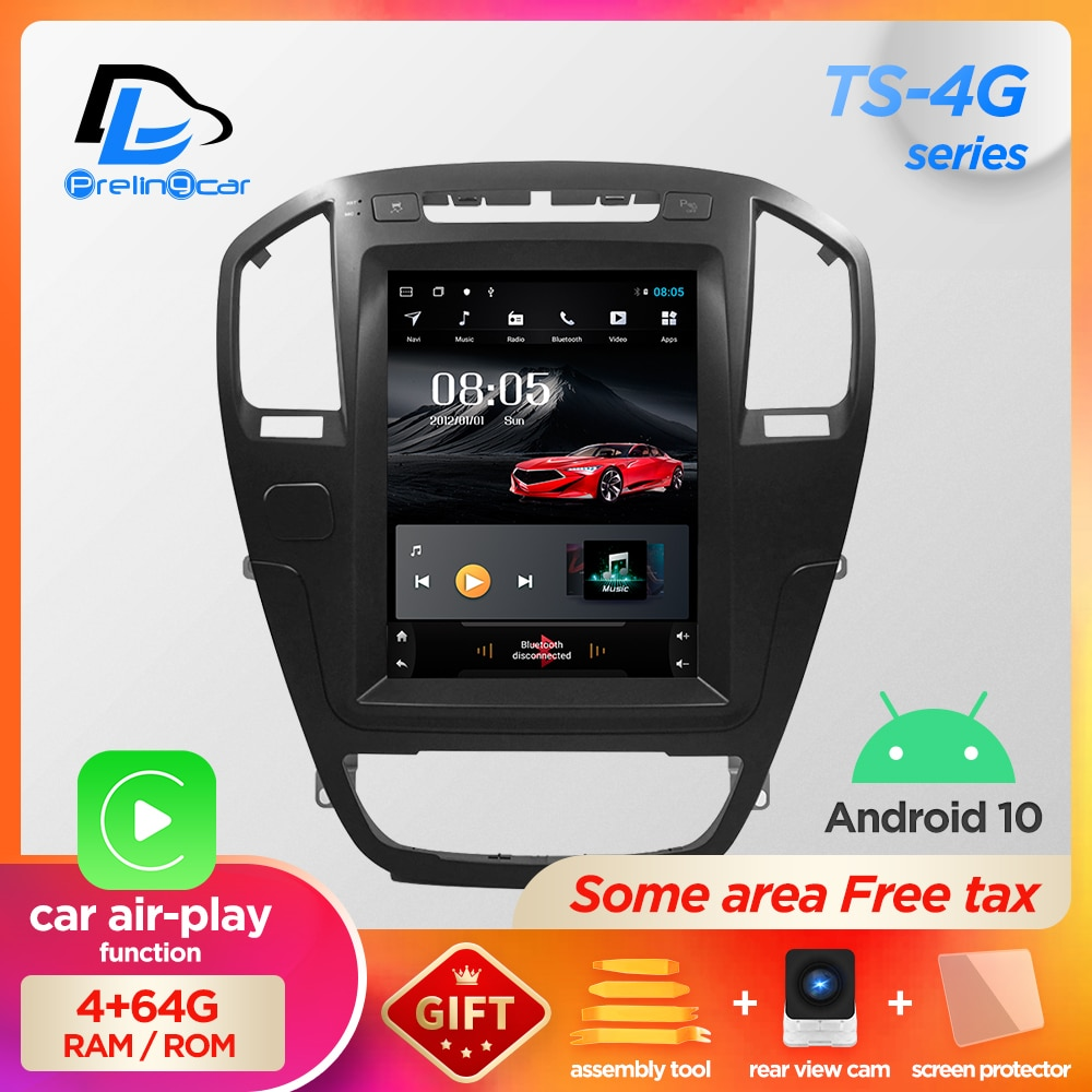 Vertical screen android 10.0 system car gps multimedia video radio player in dash for opel insignia