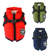 Pet Dog Winter Vest Coat for Small Medium Dogs Puppy Warm Down Jacket Sleeveless Padded Vest With Ha