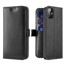 Матовая простая прочная кожаная сумка для телефона с подставкой для Iphone 12 Mini Pro Max 11 Xs Xr X 7 8 Plus с отделением для карт и полным защитным чехлом