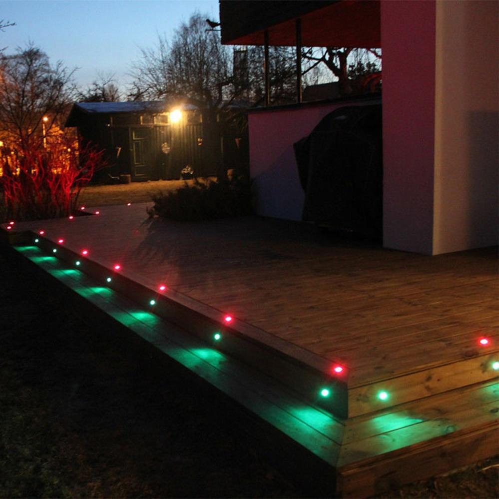 16 Uds Control remoto LED Luz de cubierta 12V RGB lampara subterranea IP67 impermeable nos UE Reino Unido es Kit escalera enlarge