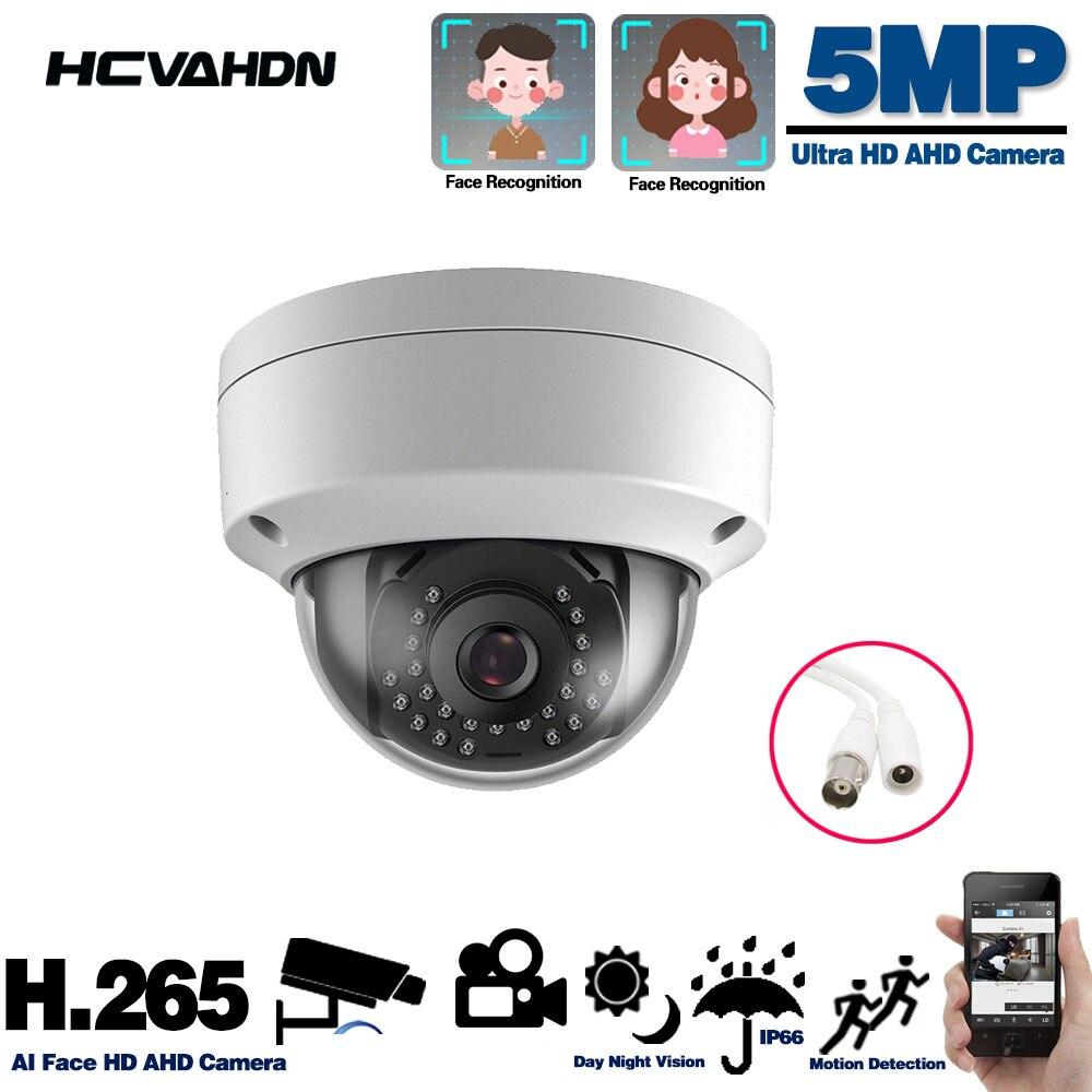 AHD-كاميرا مراقبة على شكل قبة صغيرة ، CCTV ، HD ، جهاز أمان تناظري ، مقاوم للتخريب ، مع كشف الحركة ورؤية ليلية