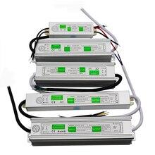 Alimentation LED alimentation étanche pilote AC110 ~ 220V à DC 12V 24V transformateur 10w 20w 60w 80w 100w 120W adaptateur pour Led bande lumineuse