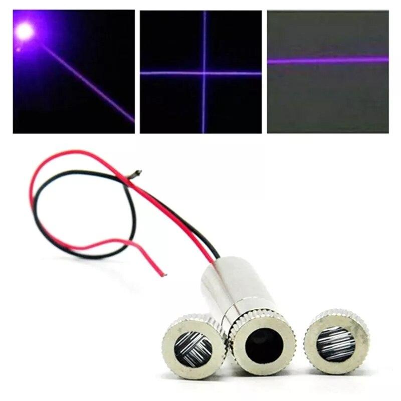 Фокусируемый 405 нм 50 мВт фиолетовый синий лазер диод модуль w точка% 2F линия крестик линза колпачки