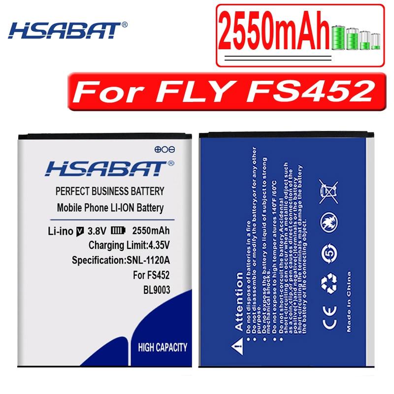 HSABAT BL9003 2550mAh batería para Fly FS452 Nimbus 2