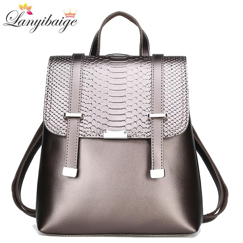 حقيبة ظهر جلدية عالية الجودة للنساء ، حقيبة سفر ذات سعة كبيرة ، حقائب مدرسية عصرية ، حقائب كتف ، mochila ، مجموعة جديدة 2020