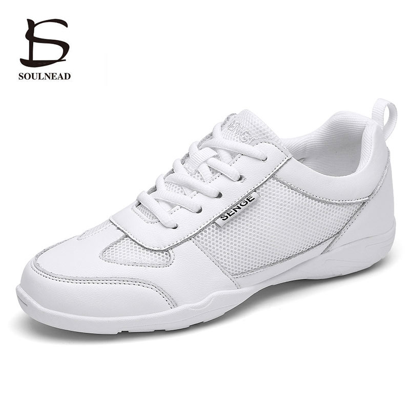 Female Adult Aerobics Shoes White Jazz Hip-hop Dance Shoes Women Girls Competitive Shoes Soft Sole F