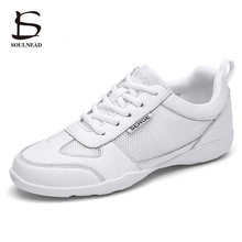 Female Adult Aerobics Shoes White Jazz Hip-hop Dance Shoes Women Girls Competitive Shoes Soft Sole F