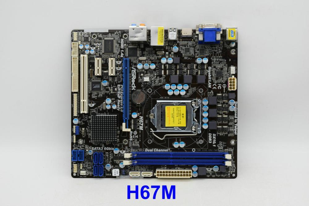 Placa base para ASRock H67M LGA 1155 H67 SATA3/USB 3 HDMI MATX