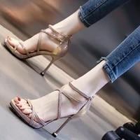 womens fashion sandals summer new fashion rubber cross strap gladiator style zipper super high heels stilettos women sandals