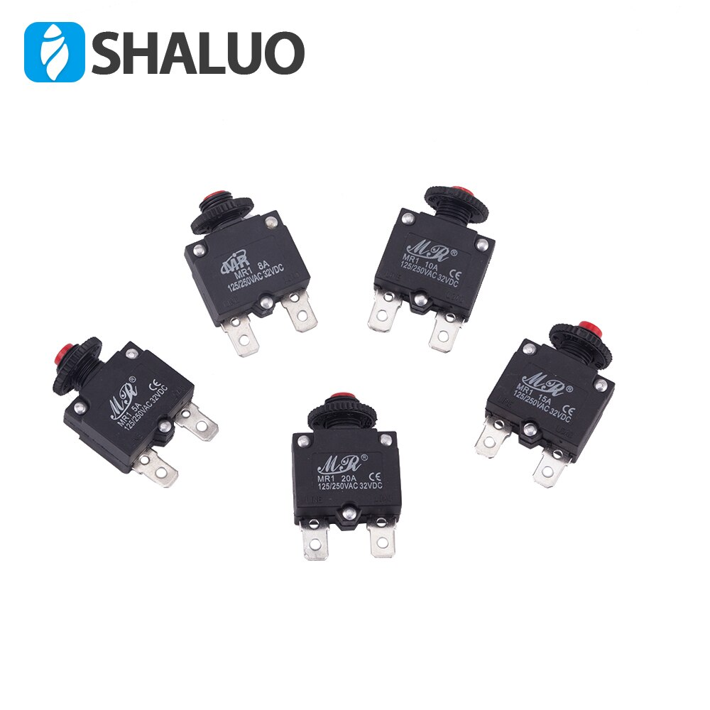 Protetor eletrônico da sobrecarga do interruptor 10a mr1 do mini compressor de ar da c.a. 125/250vac 32vdc para o gerador 10 pces de um bloco