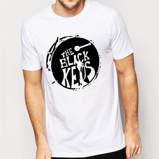 Las llaves negras camisetas hombres tambor Casual Hombre Camiseta de algodón O cuello Camiseta de manga corta hombres envío gratis Tops camisetas tamaño Euro