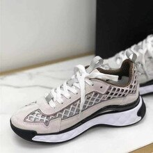 2021 Top quality latest transparent bottom casual shoes Thick Bottom Silk cowhide imported real velv
