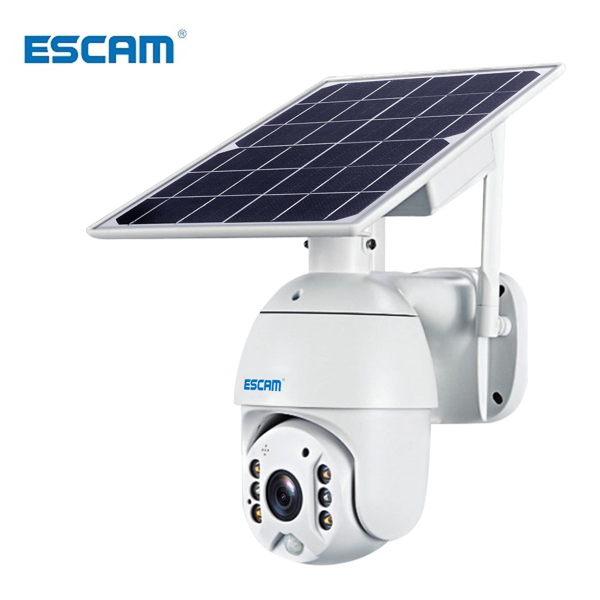 ESCAM QF280 1080P Cloud Storage PT WIFI Battery PIR Alarm IP Camera With Solar Panel Night Vision Two Way IP66 Waterproof