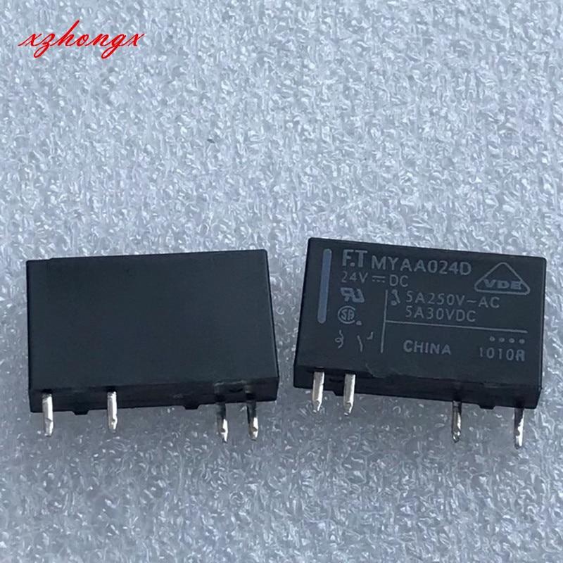 new original relay 10pcs lot myaa024d myaa024d 24vdc 24v 5a 4pin Brand-new spot MYAA024D MYAA024E F.T relay 5A 4-pin 24VDC