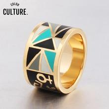 Nouvelle marque Exclusive belle egypte Avatar couleur anneau pour les femmes Costume doré métal émail bijoux cadeau créatif
