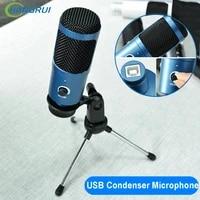 usb condenser microphone karaoke for computer laptop professional recording studio streaming youtube tiktok microfono profesor