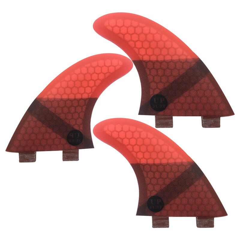 Double Tabs S Quilhas Fins Double Tabs Fins Surfboard Fin Honeycomb Fibreglass Fins Red color free shipping surfboard fins high quality honeycomb future fins in surfing quilhas fins